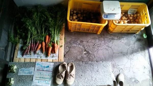 まち農家 玄関 はるちゃんの野菜